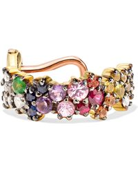 Ana Khouri - Multicolored Mirian 18-karat Gold, Diamond And Sapphire Ear Cuff - Lyst