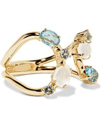Ippolita - Rock Candy 18-karat Gold Topaz And Moonstone Ring - Lyst