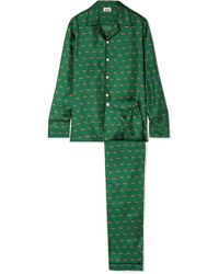 Sleepy Jones - Henry Printed Silk-satin Twill Pyjama Set - Lyst