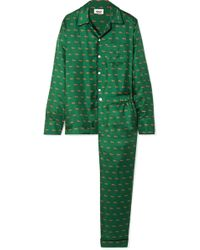 Sleepy Jones - Henry Printed Silk-twill Pyjama Set - Lyst