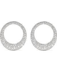 Anita Ko - Large Galaxy 18-karat White Gold Diamond Earrings - Lyst