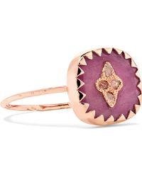 Pascale Monvoisin - Pierrot 9-karat Rose Gold, Tourmaline And Diamond Ring - Lyst