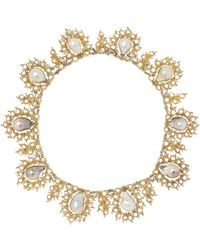 Buccellati - 18-karat Yellow And White Gold, Pearl And Diamond Necklace Gold One Size - Lyst