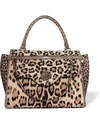 Hill & Friends - Happy Zippy Leopard-print Calf Hair Tote - Lyst