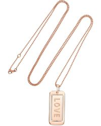 Diane Kordas - Real Love 18-karat Rose Gold Diamond Necklace - Lyst