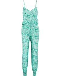 Paloma Blue - Laguna Printed Washed-silk Jumpsuit - Lyst