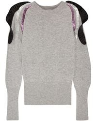 Opening Ceremony - Ruffle-trimmed Knitted Jumper - Lyst