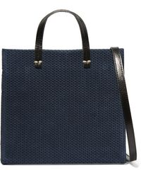 Clare V. - Simple Small Leather-trimmed Braided Suede Shoulder Bag - Lyst