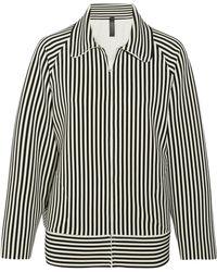 Norma Kamali - Striped Stretch-jersey Jacket - Lyst
