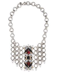DANNIJO - Alessio Oxidized Silver-plated Swarovski Crystal Necklace - Lyst