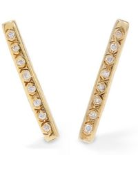 Scosha - Cari Gold-plated Diamond Earrings - Lyst