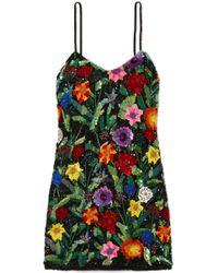 Ashish - Sequined Silk-georgette Mini Dress - Lyst