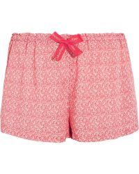 CALVIN KLEIN 205W39NYC - Printed Voile Pyjama Shorts - Lyst