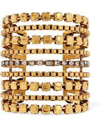 Erickson Beamon - Awaken Gold-plated Swarovski Crystal Cuff - Lyst