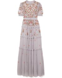 Needle & Thread - Carnation Sequin-embellished Embroidered Tulle Gown - Lyst