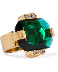 Marni - Gold-tone Crystal Ring - Lyst