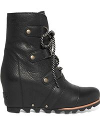 Sorel - Joan Of Arctic Waterproof Leather Ankle Boots - Lyst