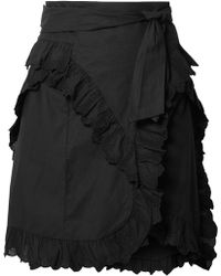 Étoile Isabel Marant - Mini-jupe En Broderie Anglaise De Coton À Volants Milou - Lyst