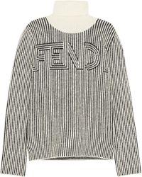 Fendi - Striped Knitted Turtleneck Sweater - Lyst
