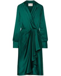 Jason Wu - Wrap-effect Silk-charmeuse Dress - Lyst