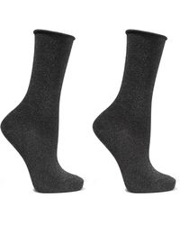 Falke - Metallic Knitted Socks - Lyst