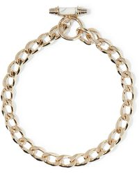 Givenchy - Chain Choker In Gold-plated Brass And Marble - Lyst