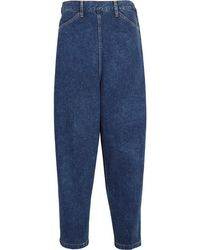 Toga - Cropped Denim Trousers - Lyst