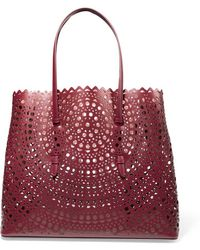 Alaïa - Vienne Laser-cut Leather Tote - Lyst