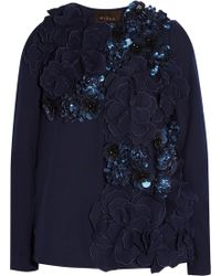 Biyan - Carla Embellished Appliquéd Wool-blend Jacket - Lyst