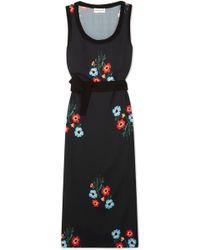 Sonia Rykiel | Floral-print Crepe Midi Dress | Lyst
