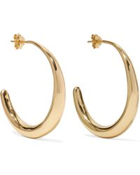 Dinosaur Designs - Louise Olsen Large Liquid Gold-plated Hoop Earrings Gold One Size - Lyst