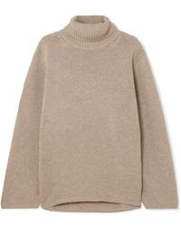 Totême  - Cambridge Merino Wool And Cashmere-blend Turtleneck Sweater - Lyst