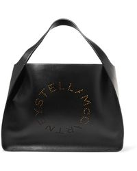 Stella McCartney Tote Bag Stella Logo en Eco-Cuir et Coton Rose Fluo vDPuSI