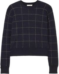 Vince - Checked Cashmere Sweater - Lyst