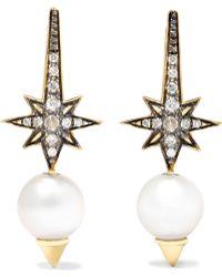 Venyx - Theiya 18-karat Gold Multi-stone Earrings - Lyst