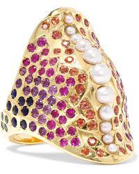 Venyx | 18-karat Gold Multi-stone Ring | Lyst