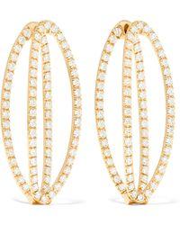 Chloe Violet 18-karat Gold Diamond Earrings - one size Melissa Kaye 4ebmY1E