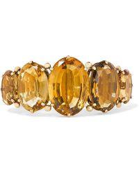 Fred Leighton - 1890s 14-karat Gold Citrine Bracelet - Lyst