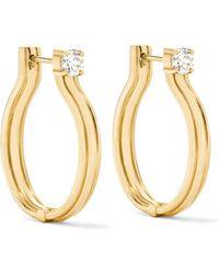 Melissa Kaye - Jen Maia 18-karat Gold Diamond Hoop Earrings - Lyst