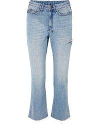 Ksubi - Skinny Kickin Distressed High-rise Flared Jeans - Lyst