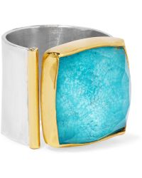 Katerina Makriyianni - Silver, Gold-plated And Turquoise Ring - Lyst