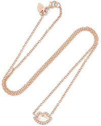 Jemma Wynne | 18-karat Rose Gold Diamond Necklace | Lyst