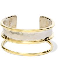 Anndra Neen - Hammered Gold-plated Cuff - Lyst