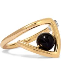 Uribe - Zaha Gold-plated Agate Ring - Lyst