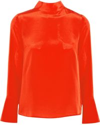 J.Crew | Howl Draped Silk Crepe De Chine Top | Lyst