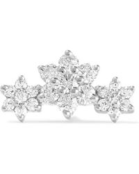 Maria Tash - Flower Garland 18-karat White Gold Diamond Earring - Lyst