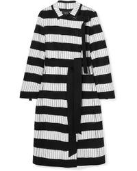Akris - Embroidered Wool-blend Felt Coat - Lyst