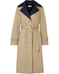 Tory Burch - Ashby Two-tone Cotton-canvas Trench Coat - Lyst