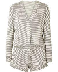Eberjey - Sadie Striped Stretch-modal Jersey Playsuit - Lyst