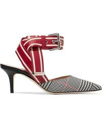 Monse - Leather And Prince Of Wales Checked Twill Court Shoes - Lyst